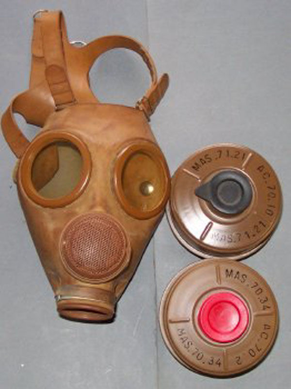 French M51/M53 Gas Mask and 2