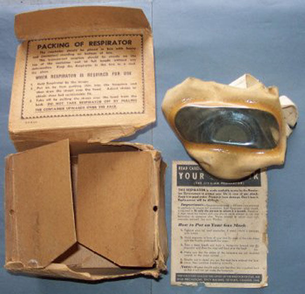 Canadian WWII Civilian Mask wi