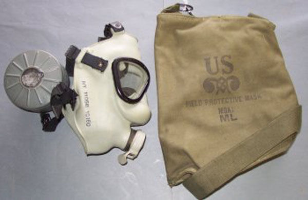 M9A1 Gas Mask filter and carr