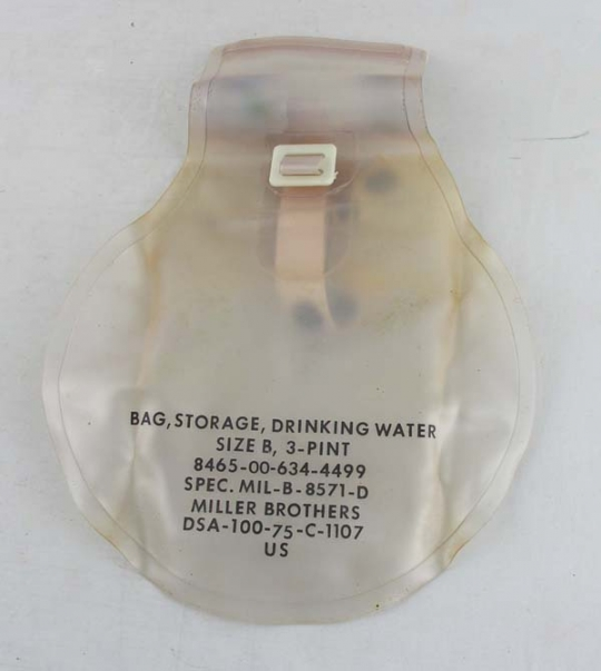 Bag Storage Drinking Water 5qt Military Specification MIL B 8571D