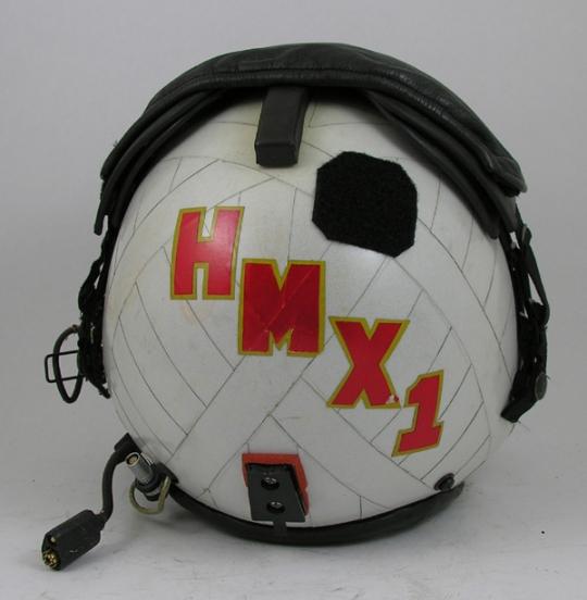Original HMX1 HGU-84/P Flight Helmet with Reflective Tape