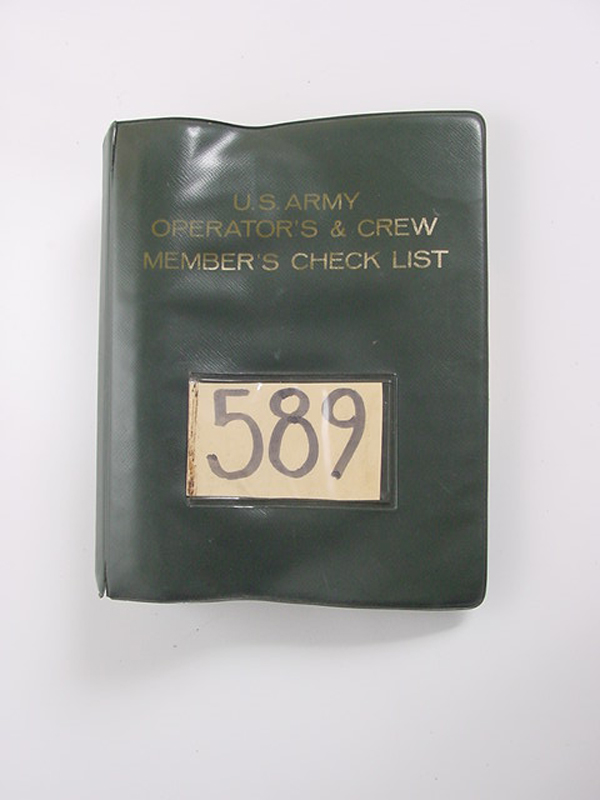 US Army Model OH-58A Helicopter Pilots Check List