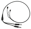 Flight Helmet Drop-down cable with G/A Plugs
