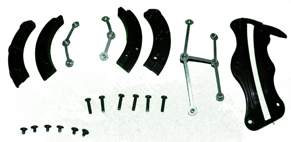 Visor Track Set, with screws and nuts, for Flyer's Helmet, HGU-68/P Tac-Air