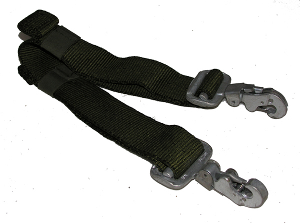 Parachute Strap with Quick Release Snap Hooks