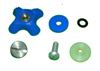 Blue Visor Lock Knob Assembly Kit For Dual Visor APH-6 Series Flight Helmets