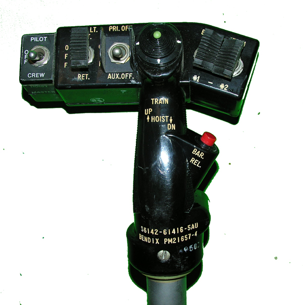 Helicopter Flight Control Stick and Grip