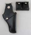 Black Leather GUU-1/P Holster and Ammo Pouch