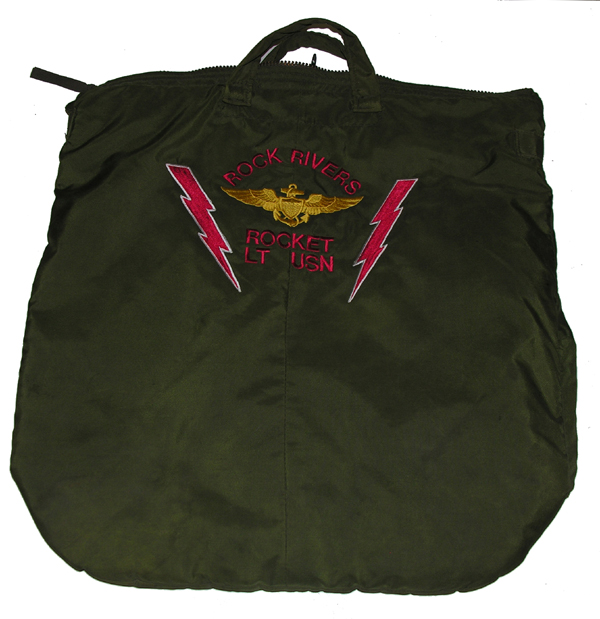 Green Flight Helmet Bag with Embroidered Name