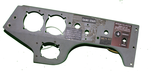 T-33 Knee Panel Instrument Panel Section