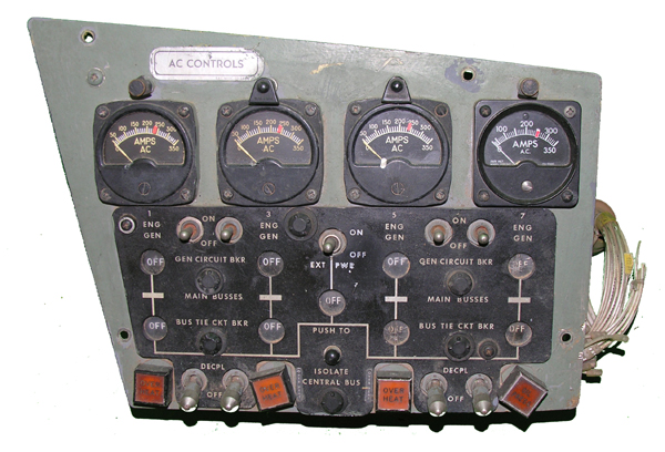 Aircraft Instument Panel Section with Instruments
