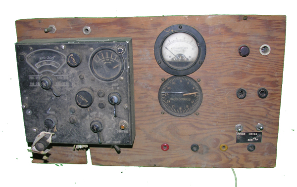 Aircraft Radio Control Panel with Control Box and Instruments