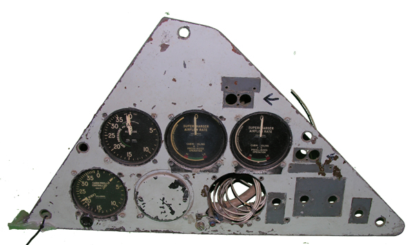 Aircraft Instrument Panel with Instruments