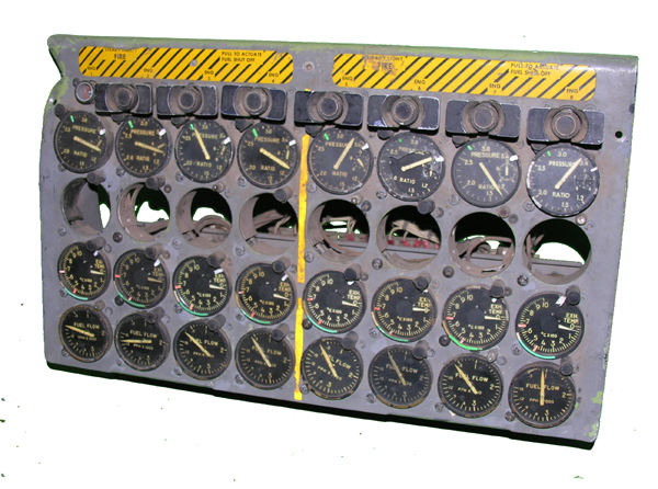 B-52 Aircraft Instrument Panel with Instruments