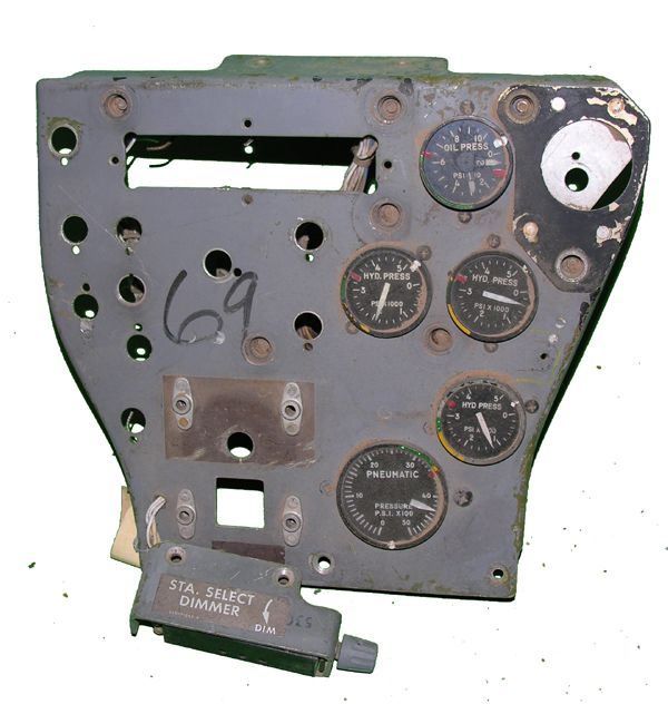 F-4 Aircraft Center Column Instrument Panel