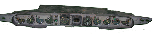 B-52 Aircraft Instrument EyeBrow Panel with Instruments