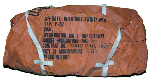 F-2B 20-Man Life Raft Case
