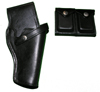 Leather Holster and Ammo Pouch with boxes