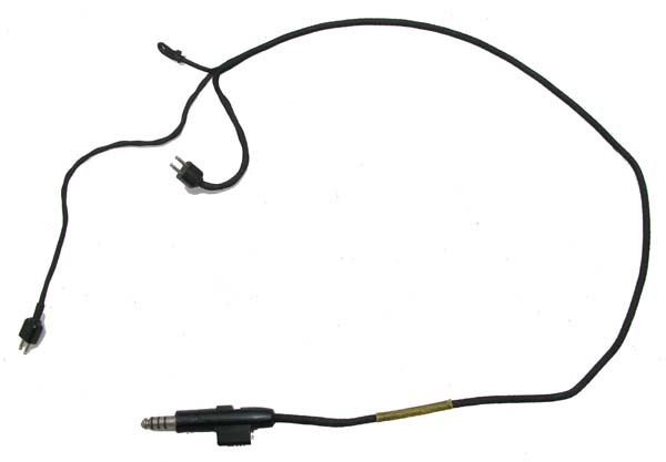 Flight Helmet Communications Drop Cord with Dual Microphone switch