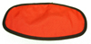 Orange Cloth Flight Helmet Visor Cover