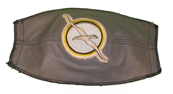 Gray Leather Flight Helmet Visor Cover