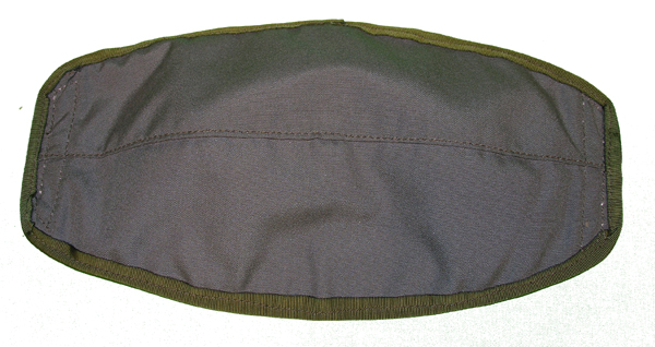 Gray Cloth Flight Helmet Visor Cover