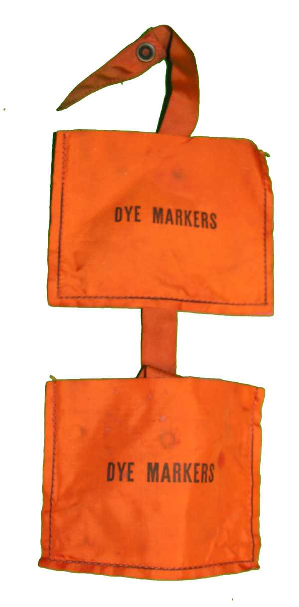 Orange MK-2 Life Vest Dye Marker Pocket Pouch