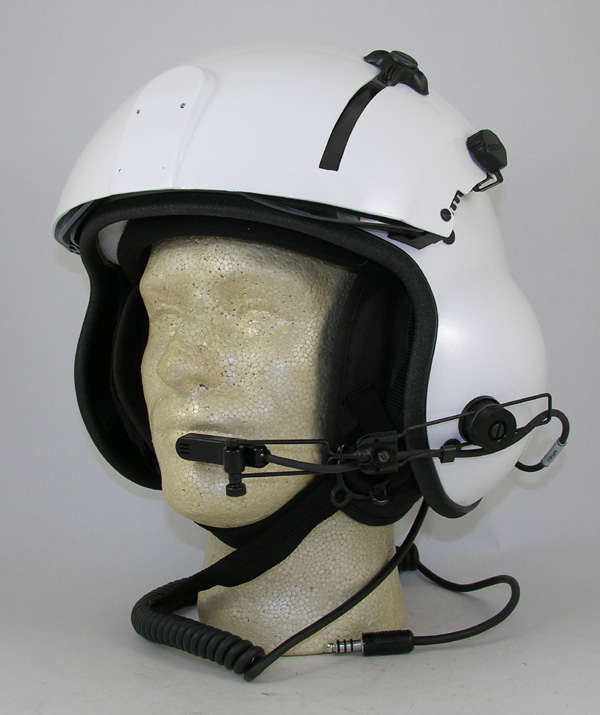 New Kevlar Helicopter Flight Helmet, Dual Visor or Single Visor - Choose Color