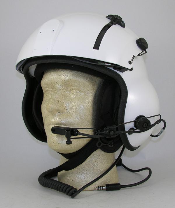 New Kevlar Helicopter Flight Helmet, Dual Visor or Single Visor - Choose Color