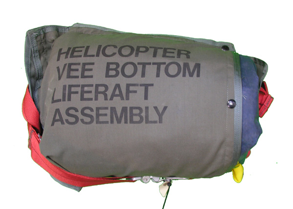 Helicopter Vee Bottom Life Raft Assembly with LR-1 Life Raft
