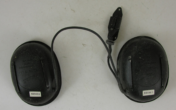 British Flight Helmet Ear Cup and Comm Cord Assembly