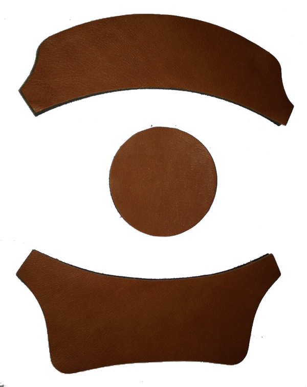 Brown Leather HGU-26/P and HGU-2A/P Flight Helmet Replacement Fitting Pad Set