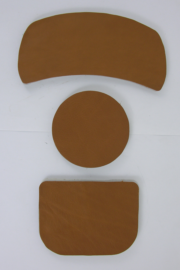 Brown Leather APH-5 and APH-6 Flight Helmet Replacement Fitting Pad Set