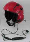 New Kevlar Helicopter Flight Helmet with Lightspeed Zulu H-Mod Helmet ANR System Installed