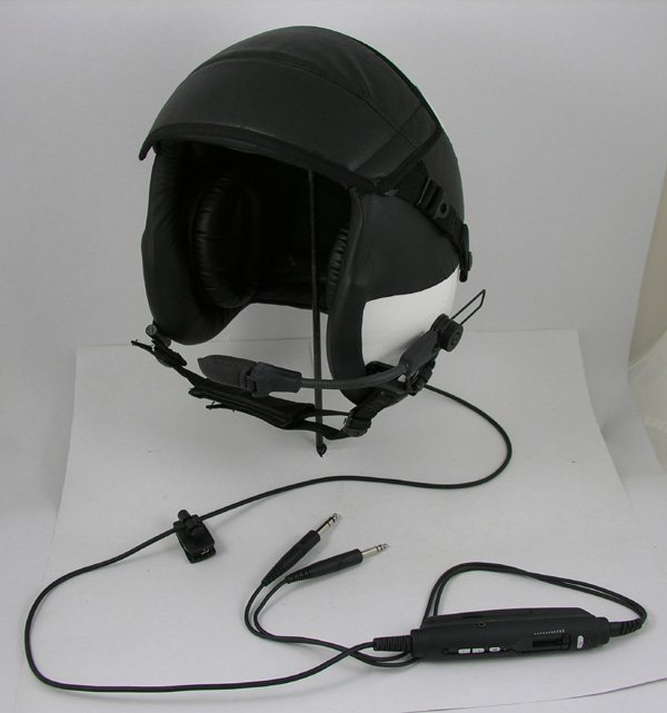New Civilian HGU-55/P Kevlar Flight Helmet with Lightspeed Zulu H-Mod Helmet ANR System Installed