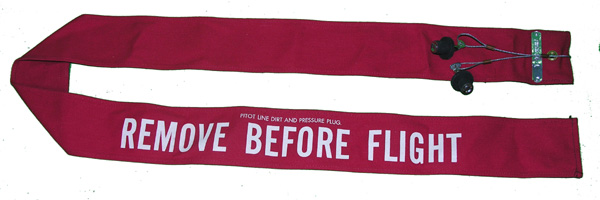 Aircraft Remove Before Flight Flag Assembly with Inlet Plugs