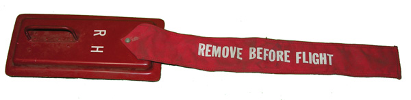 Aircraft Remove Before Flight Flag with Cover Plate