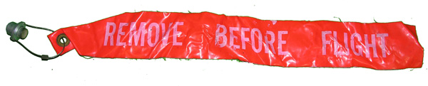 Aircraft Remove Before Flight Flag with Pin