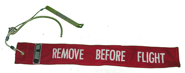 Aircraft Remove Before Flight Flag with Pins