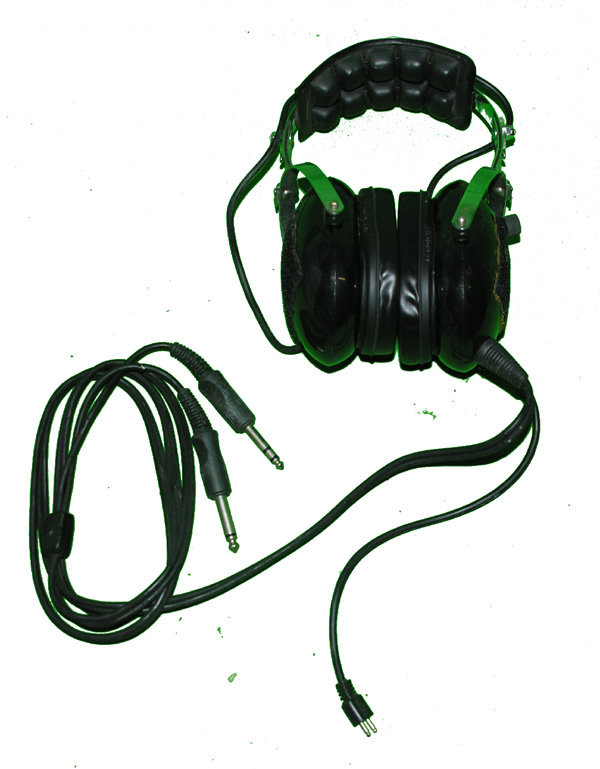 Headset with G/A plugs and cord for microphone