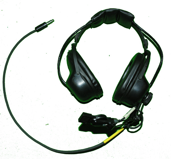 Military Headset with U-174 plug and microphone