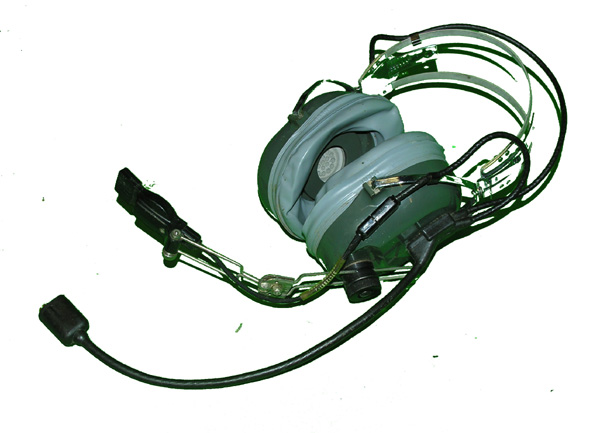 US Navy Headset with comm cord and microphone