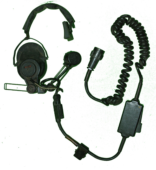 Military Headset with one earphone and boom microphone