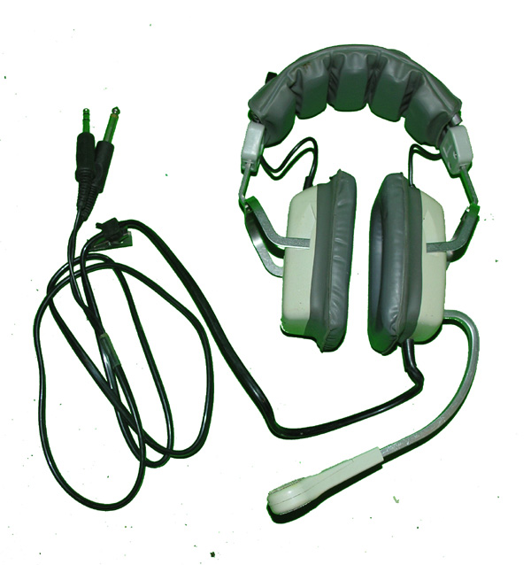 Telex Civilian Headset with microphone and G/A plugs