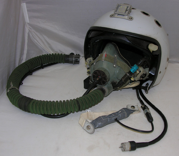 Russian ZSH-7 Flight Helmet with oxygen mask
