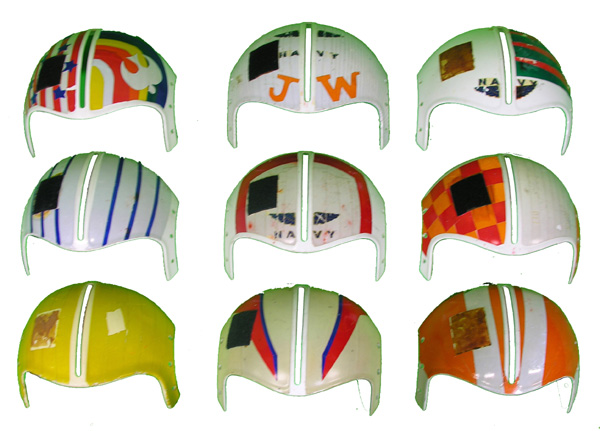 HGU-33/P EEK-4A/P Visor Housings with original paint/reflective tape
