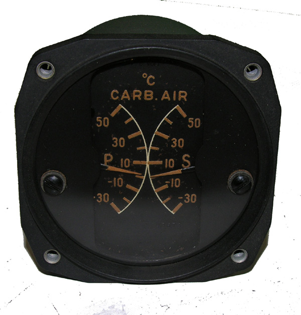 RCAF Aircraft Carb Air Temp Guage