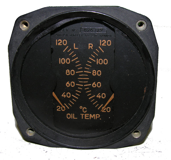 RCAF Aircraft Oil Temp Guage