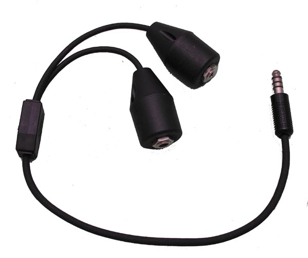 """Adapter Cable- 18"""" Length, G/A Dual Plugs to Mono U-174"""