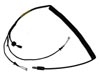Microphone and Earphone Helmet Cord with U-174/U Plug, 3-6' Length, Coiled
